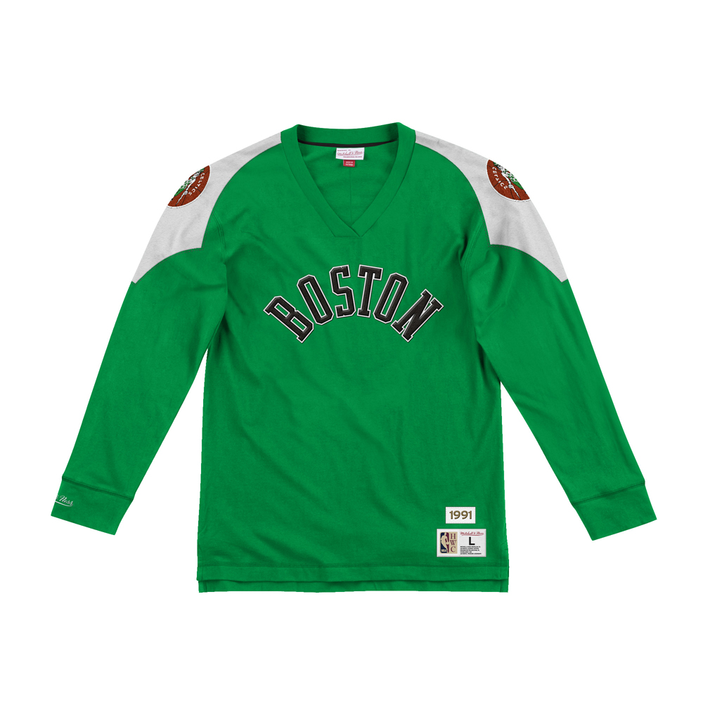 BLUZA MITCHELL&NESS TEAM INSPIRED LONGSLEEVE BOSTON CELTICS KELLY GREEN SklepKoszykarza 165348_XL_5056296922873_9_40