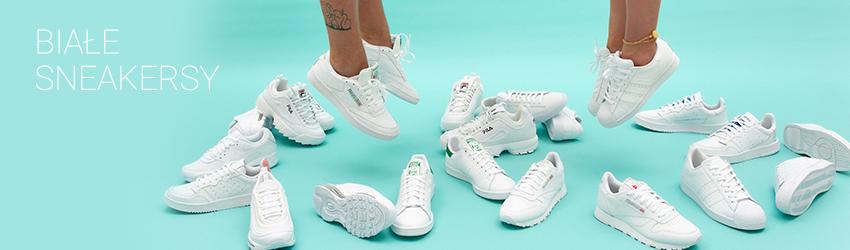Białe sneakersy damskie