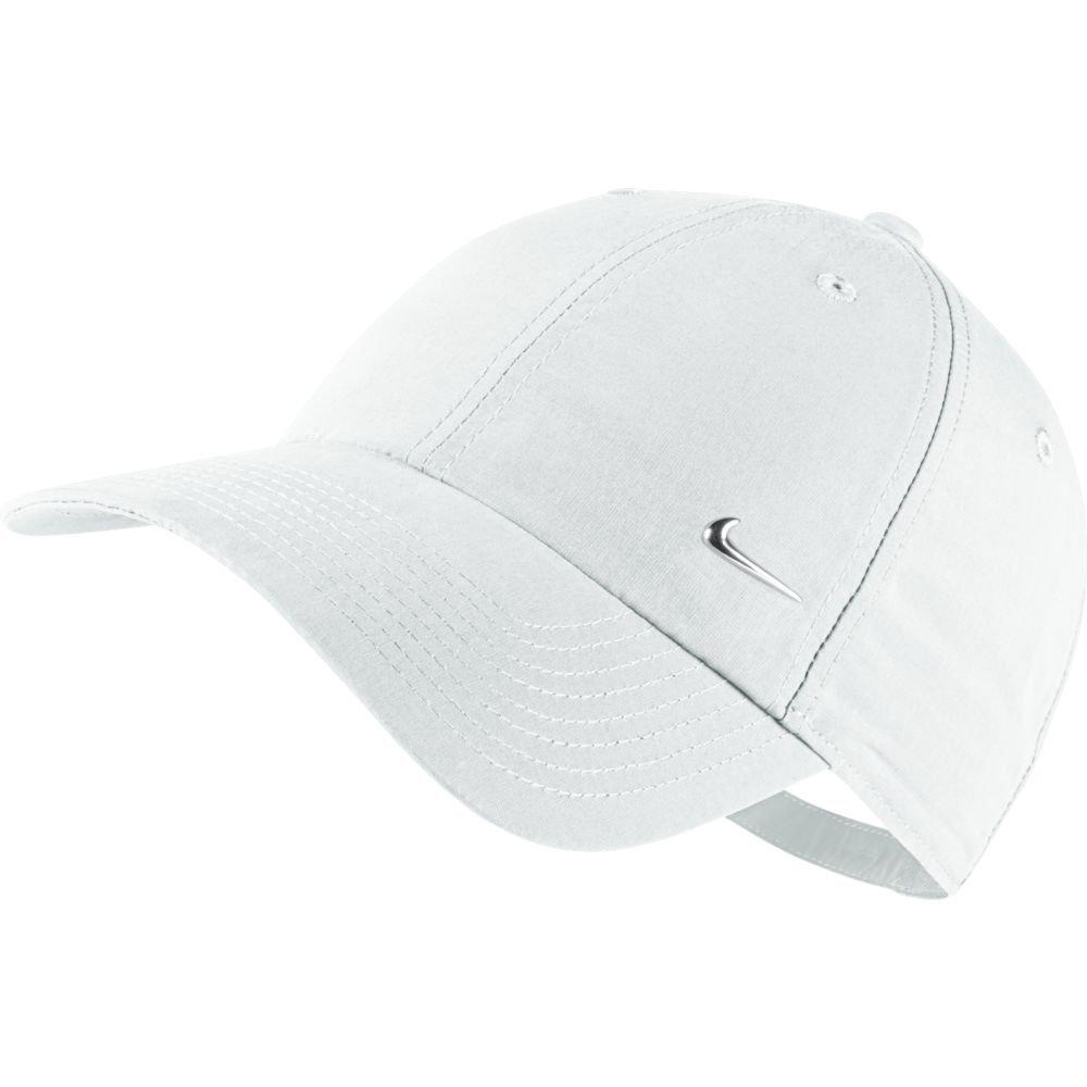nike metal swoosh logo adjustable hat white
