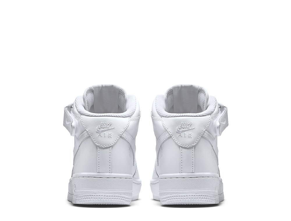 "nike air force 1 mid (gs) ""all white"" białe"