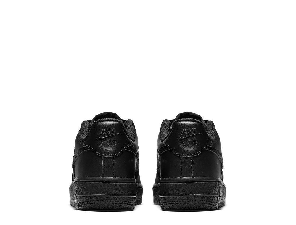 "nike air force 1 low (gs) ""all black"" czarne"