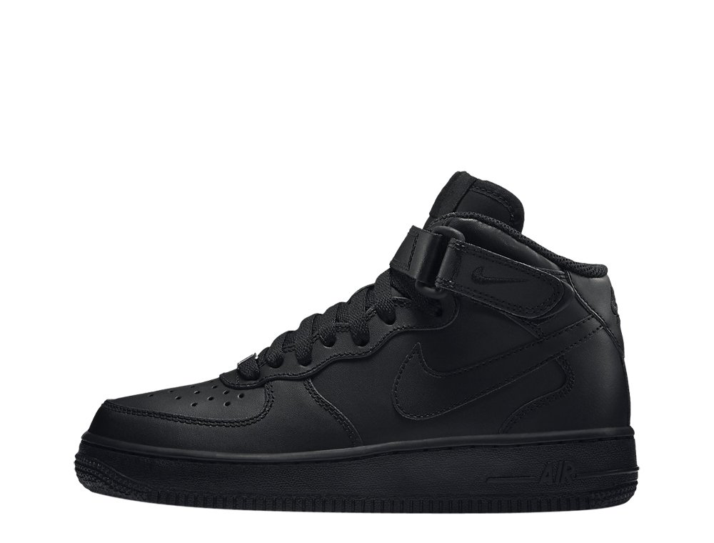 Buty NIKE Air Force 1 Mid (GS) 314195 004 BlackBlack