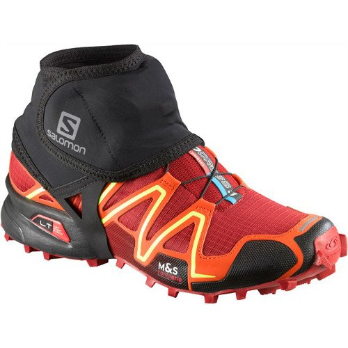 salomon trail gaiters low czarne