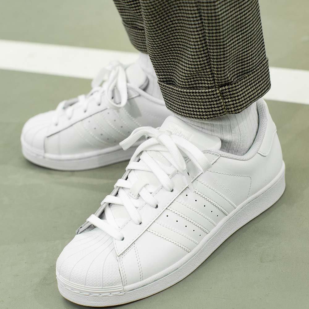 adidas superstar foundation młodzieżowe białe (b23641)