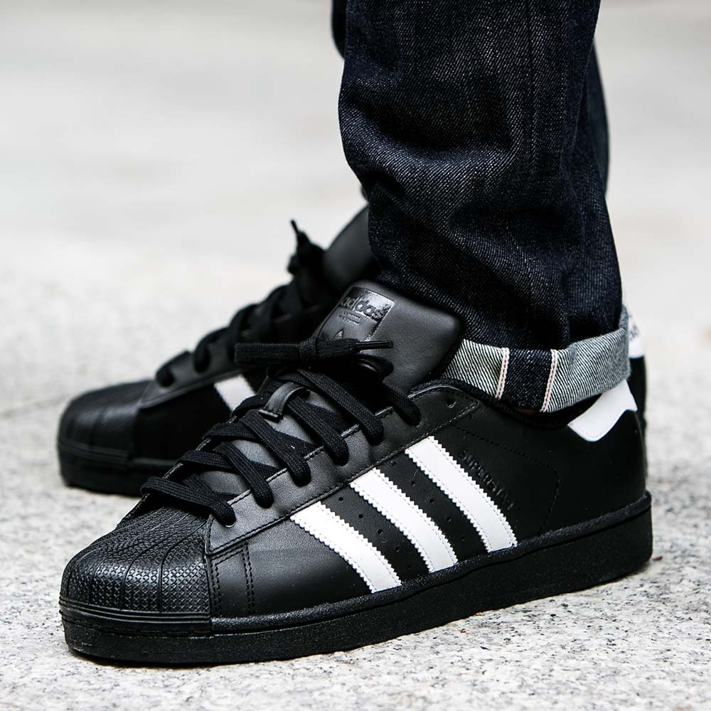 "adidas superstar foundation ""core black"" męskie czarne (b27140)"