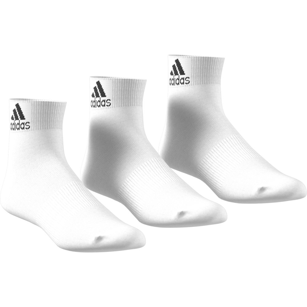adidas Performance Thin Ankle Socks 3 Pairs White