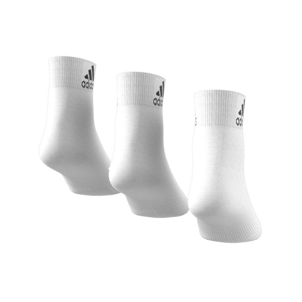 adidas performance thin ankle socks 3 pairs white