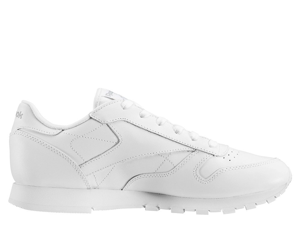 "reebok classic leather ""white"" junior białe"