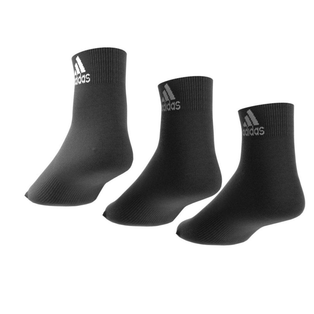 adidas performance thin ankle socks 3 pairs czarne