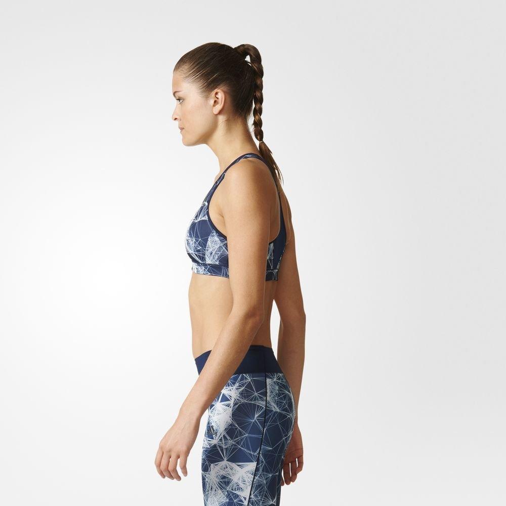 adidas racer-back printed bra navy