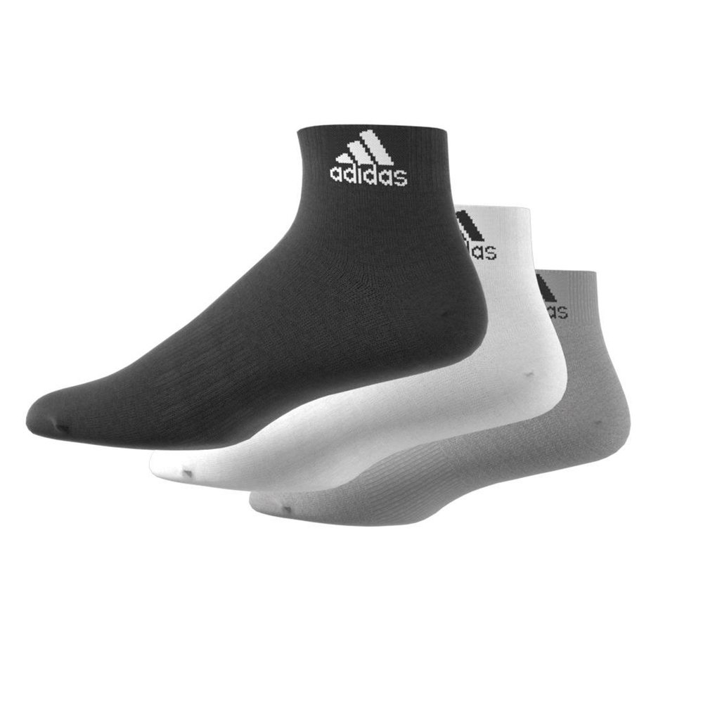 adidas 3 pack ankle socks multi