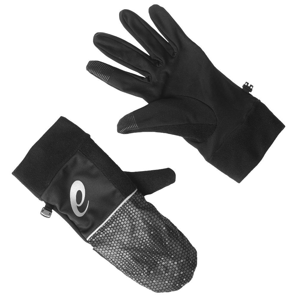 asics pfm mitten czarne