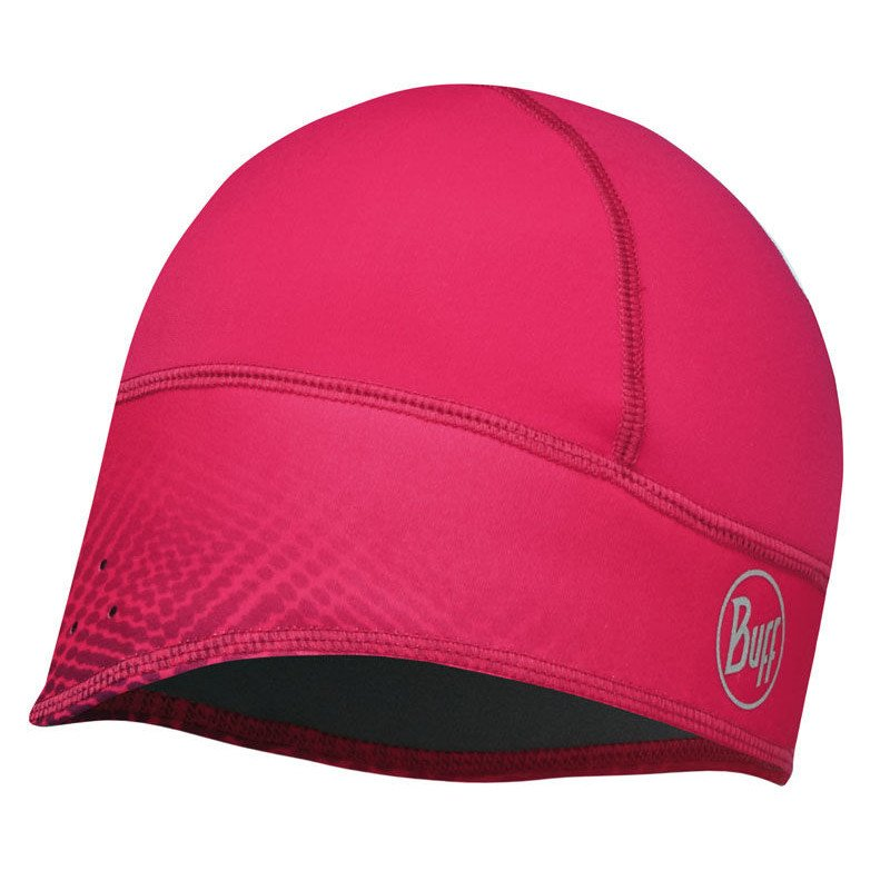 czapka do biegania buff bh windproof tech fleece xtreme pink
