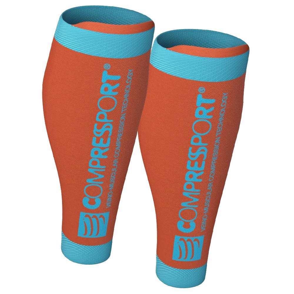 opaski na łydki compressport r2 v2 orange (r2v2-2111)