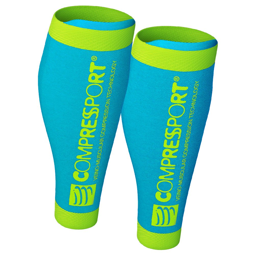 opaski na Łydki compressport calf r2 v2 ice blue