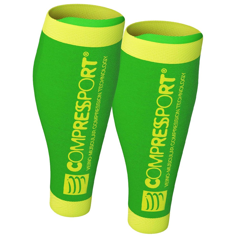 compressport calf r2 v2 fluo green