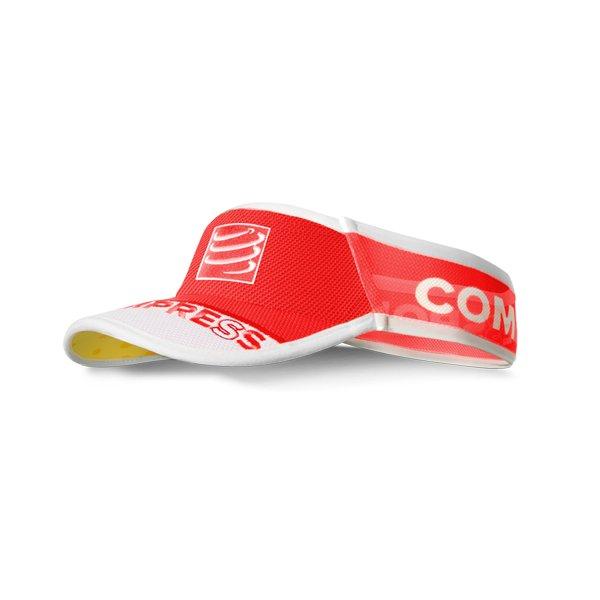 compressport visor v2 czerwona