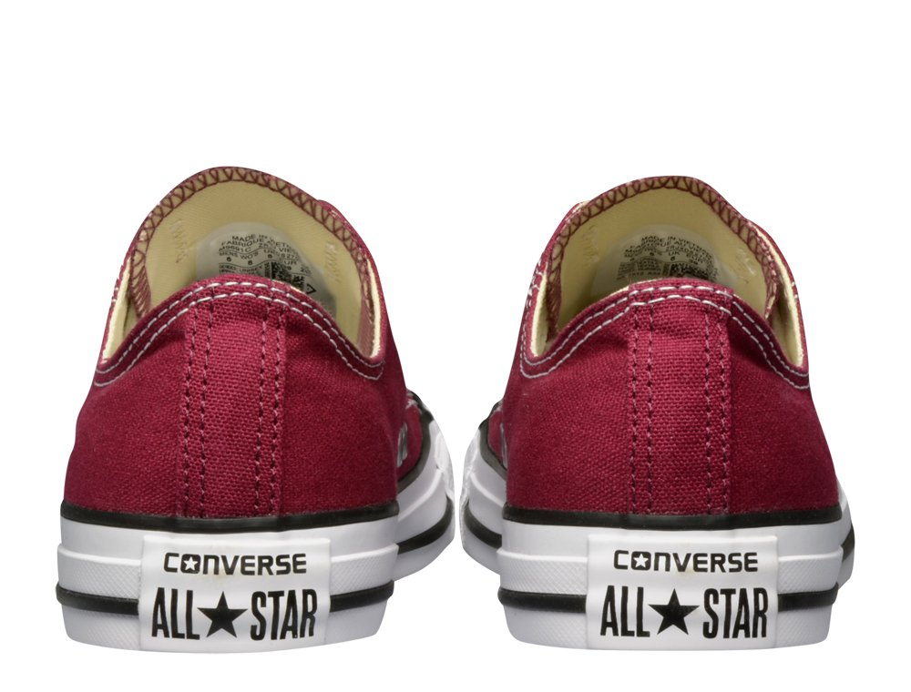 converse chuck taylor all star bordowo-białe