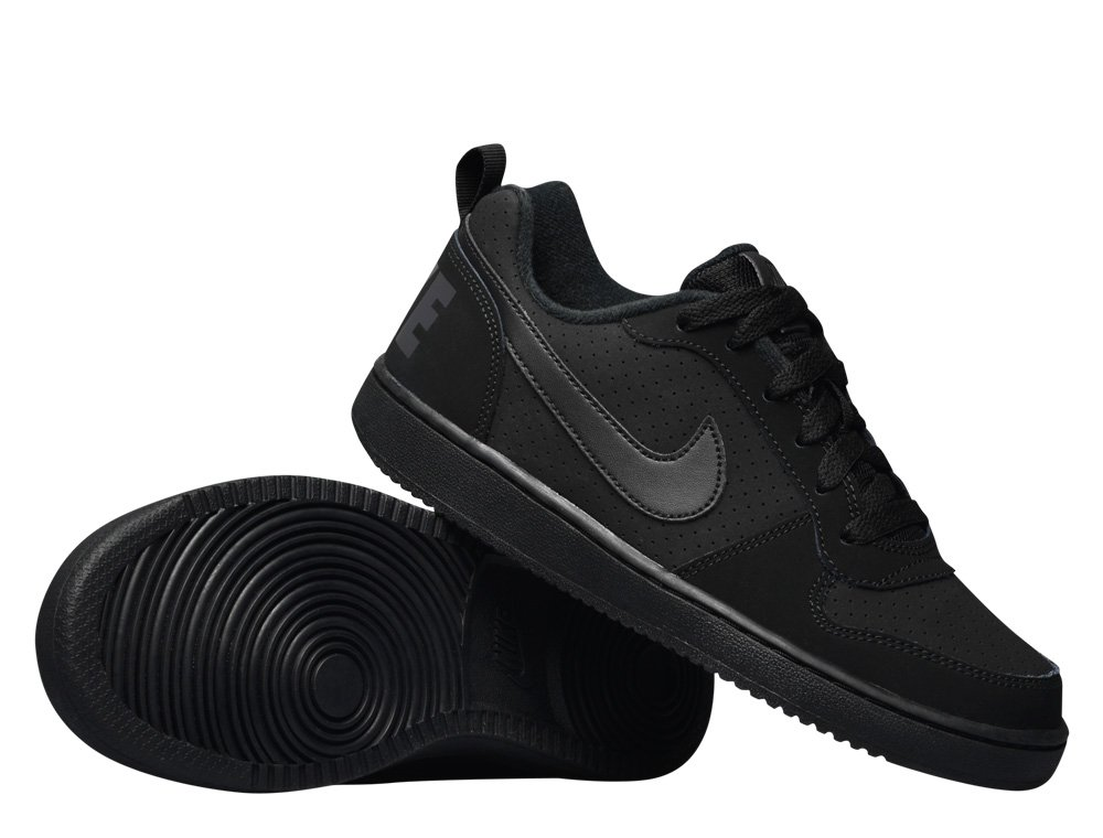 nike court borough low (gs) black