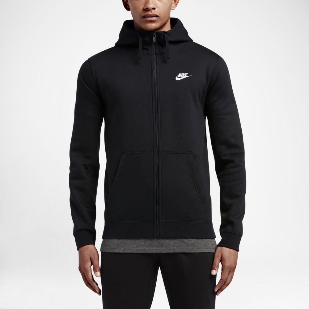 nike m nsw hoodie fz fleece club czarna