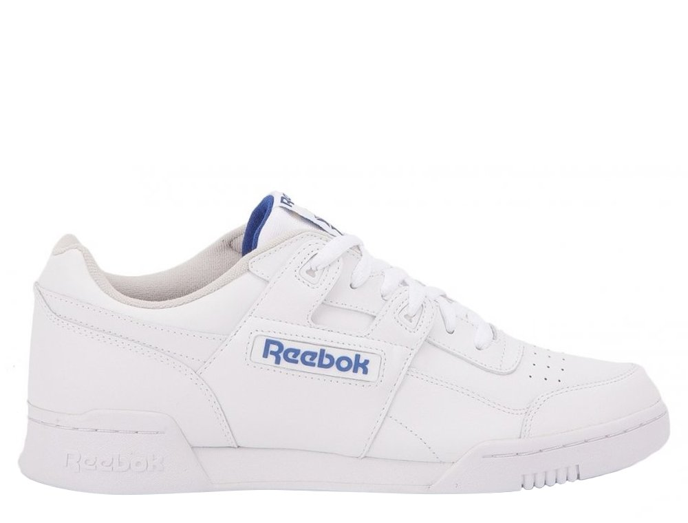 "buty reebok classic workout plus ""white/royal blue"" (2759)"