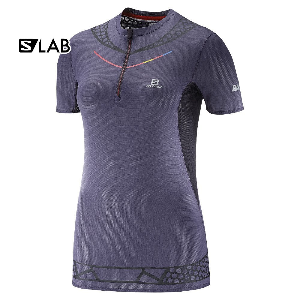 salomon s-lab exo half zip tee w fioletowa