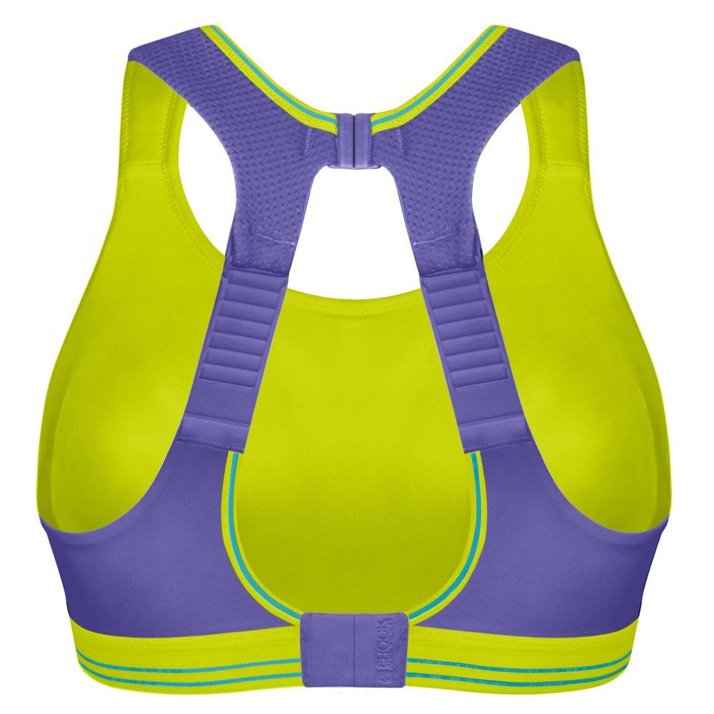 shock absorber ultimate run bra zielono-fioletowy