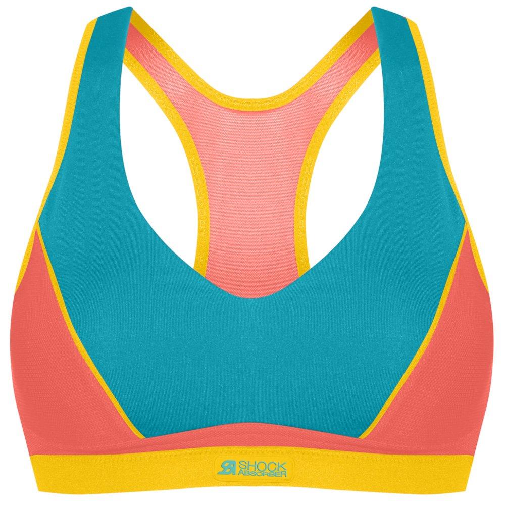 shock absorber padded pump sport bra niebiesko-pomarańczowy