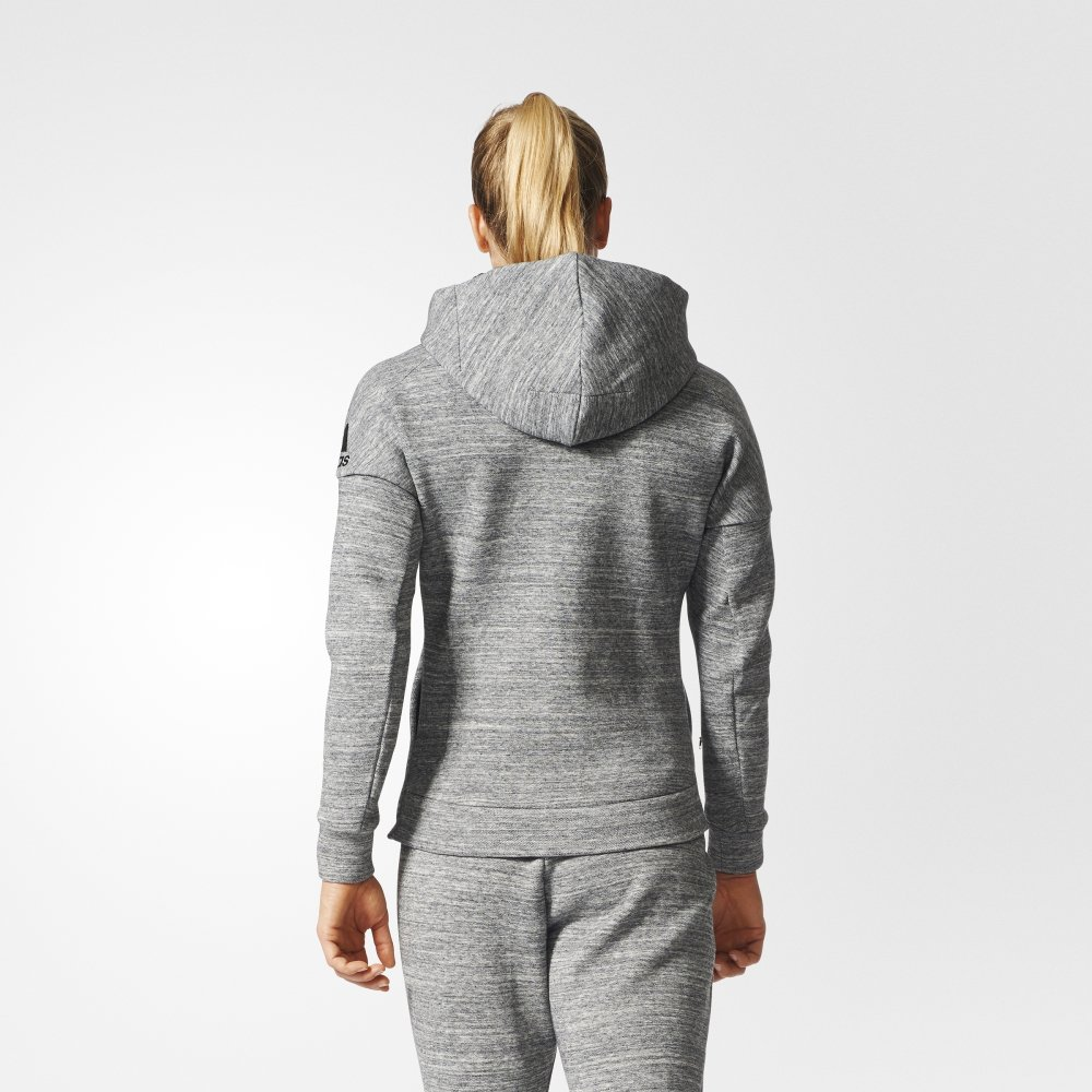 adidas z.n.e. travel hoodie grey