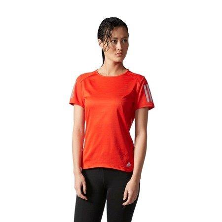 adidas response core red short sleeve t-shirt