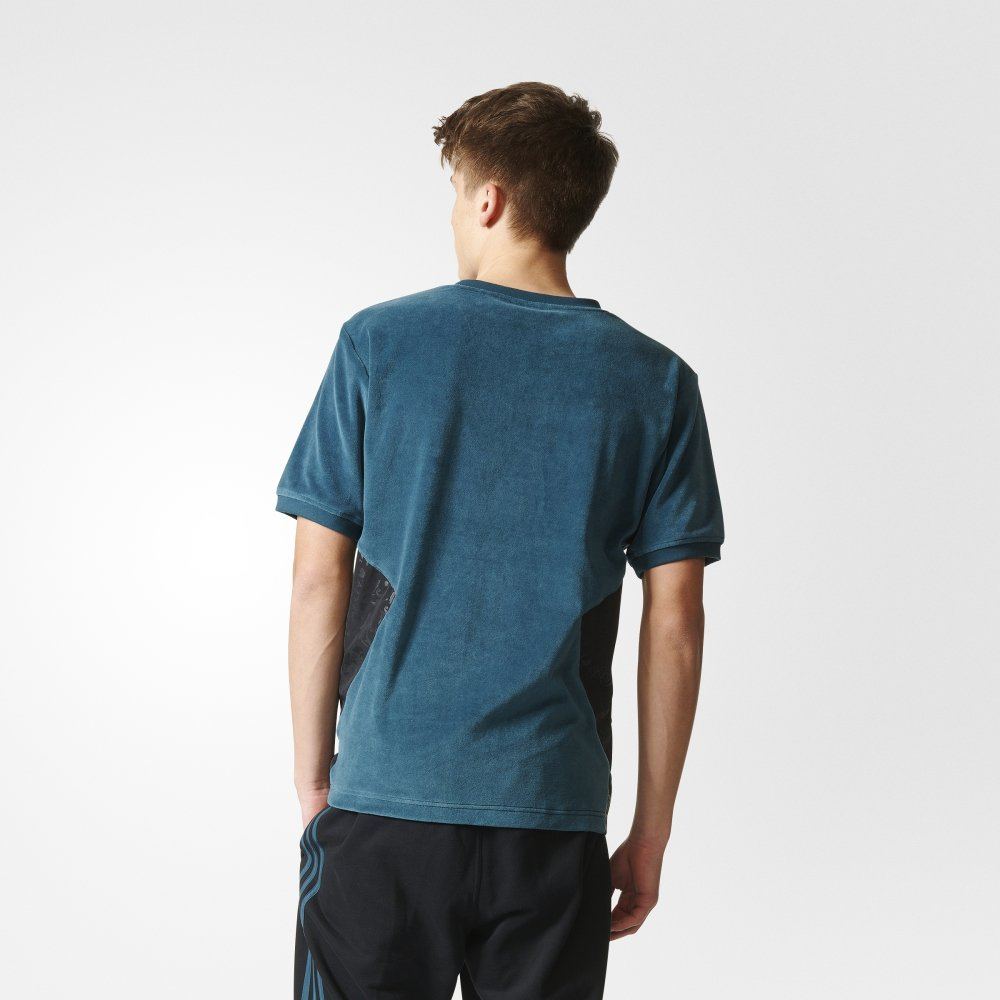 bluza adidas originals ob short sleeve velour crewneck sweatshirt (cf5320)