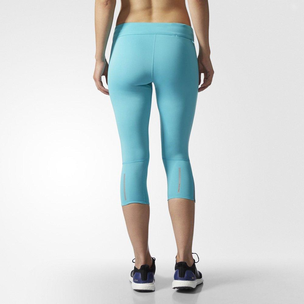 adidas response 3/4 tights w błękitne