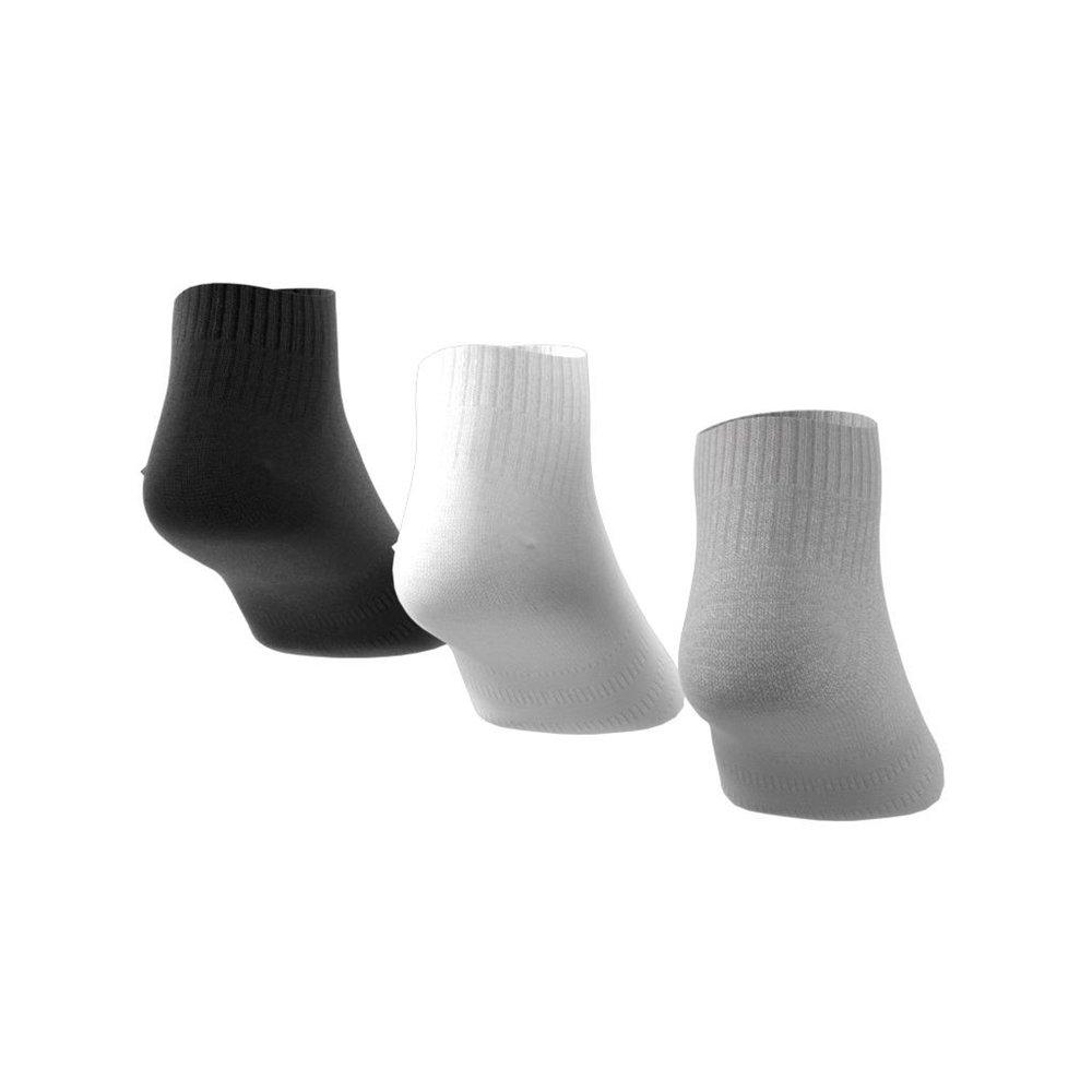 adidas 3-stripes no-show socks 3 pairs