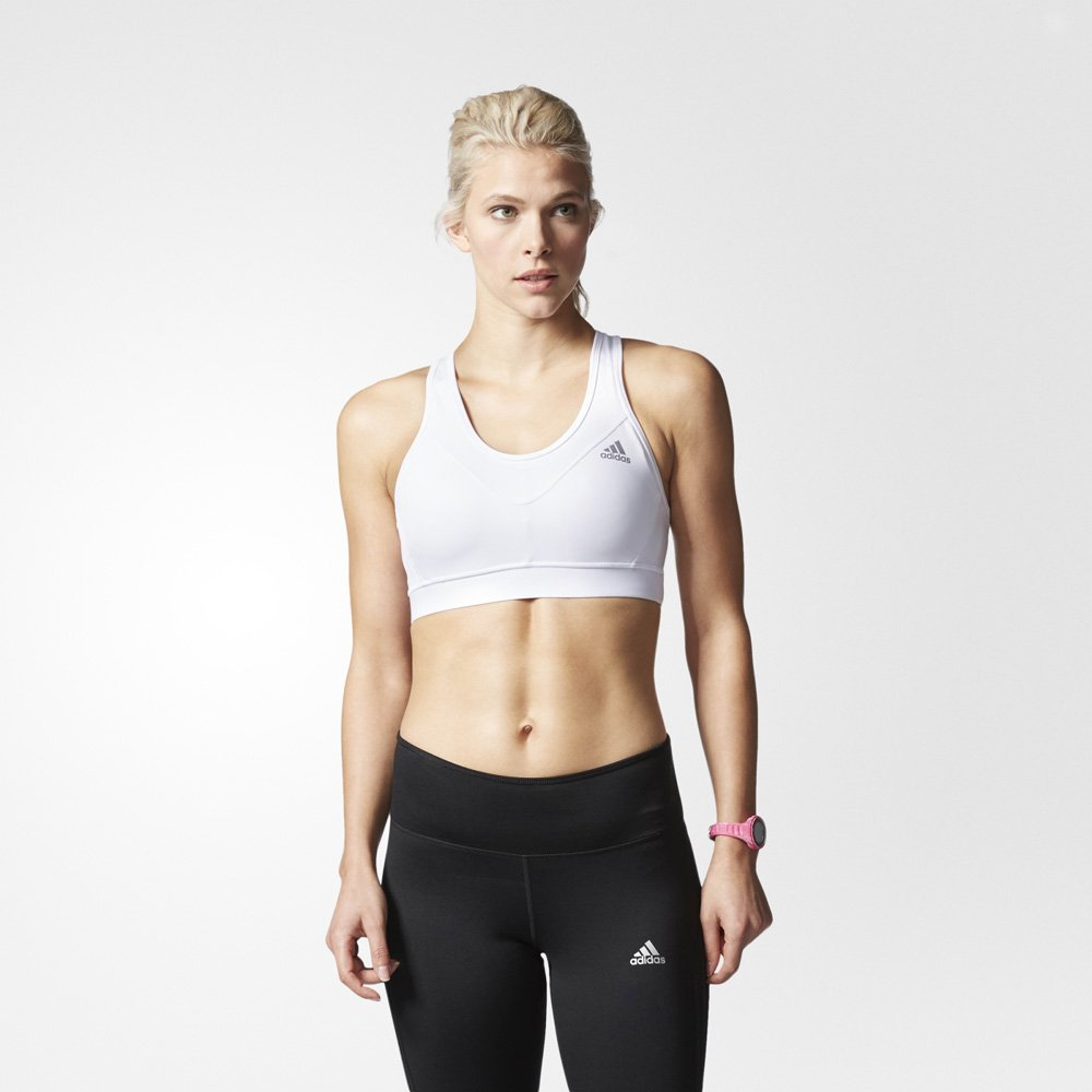 adidas techfit padded bra white