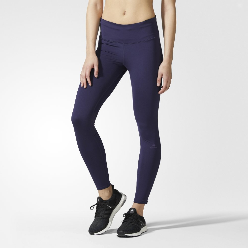 adidas supernova long tights w fioletowe