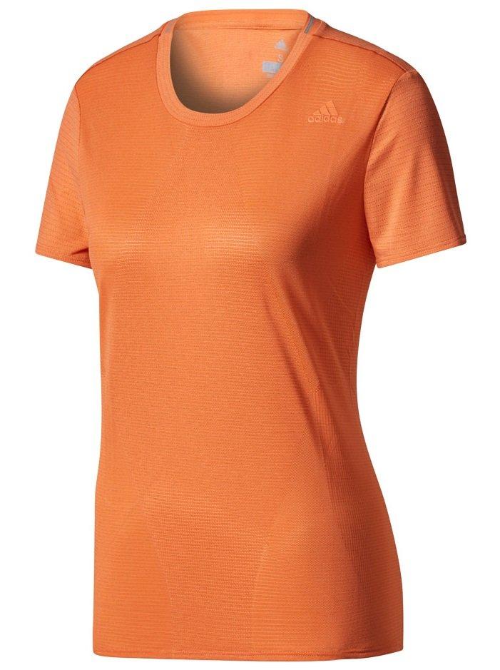 adidas supernova short sleeve tee w pomarańczowa