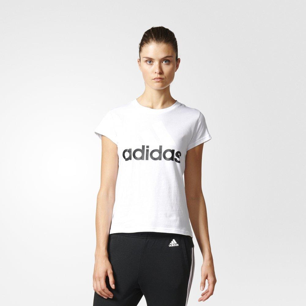 adidas essentials linear white