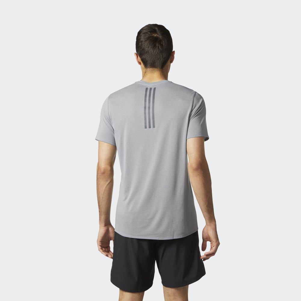 adidas supernova short sleeve tee m szara