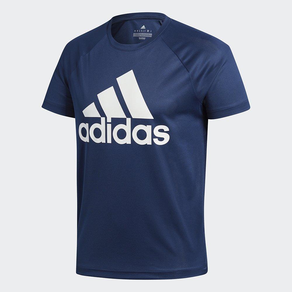 adidas d2m logo t-shirt navy