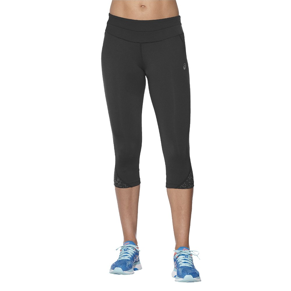 asics race knee tights w czarne