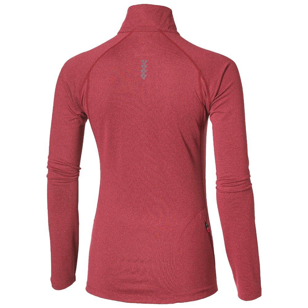 asics ls 1/2 zip jersey w różowa