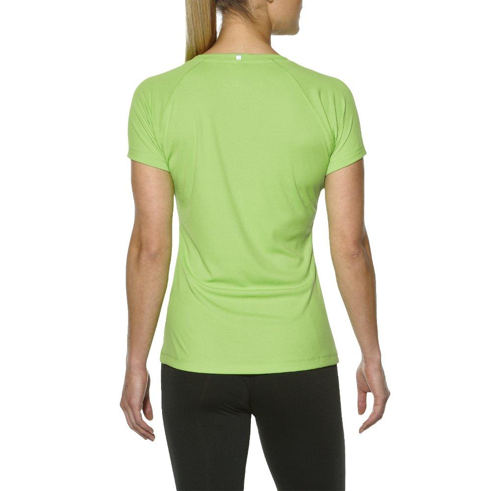 asics stripe top ss w zielona
