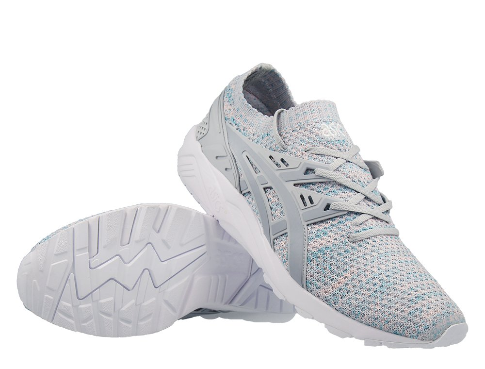 "buty asics gel-kayano trainer knit ""glacier grey"" (hn7m4-9696)"
