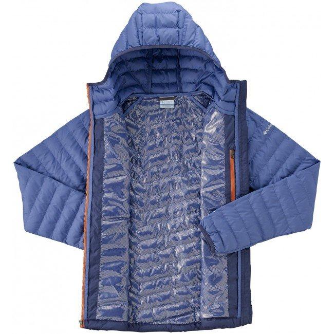 columbia powder lite hooded jacket blue