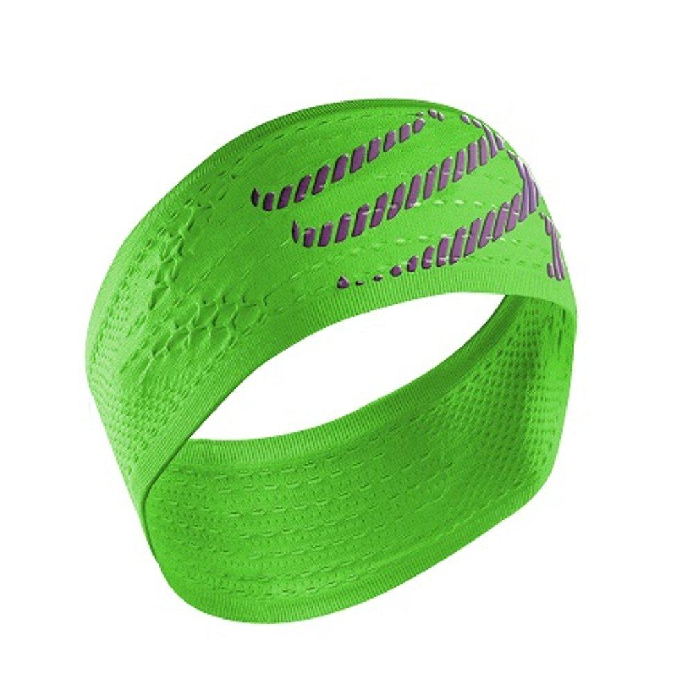 compressport headband on/off jaskrawo-zielona