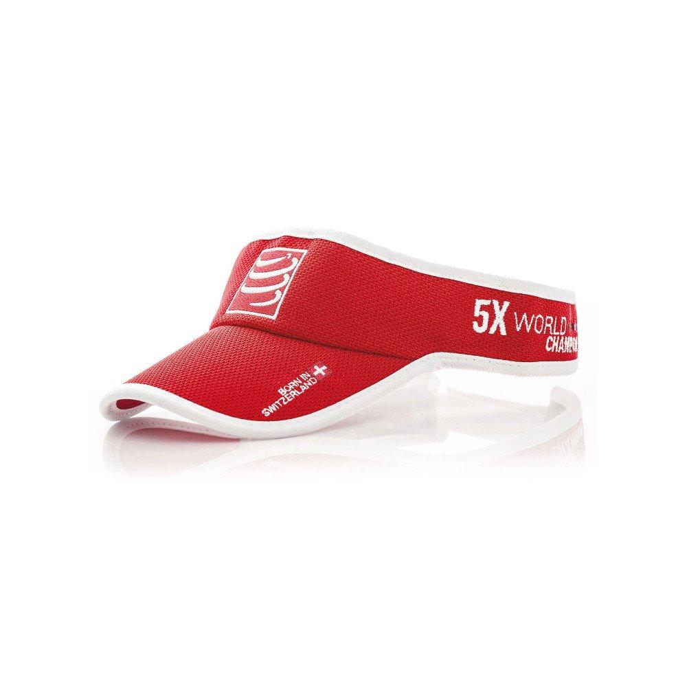 compressport visor cap czerwona
