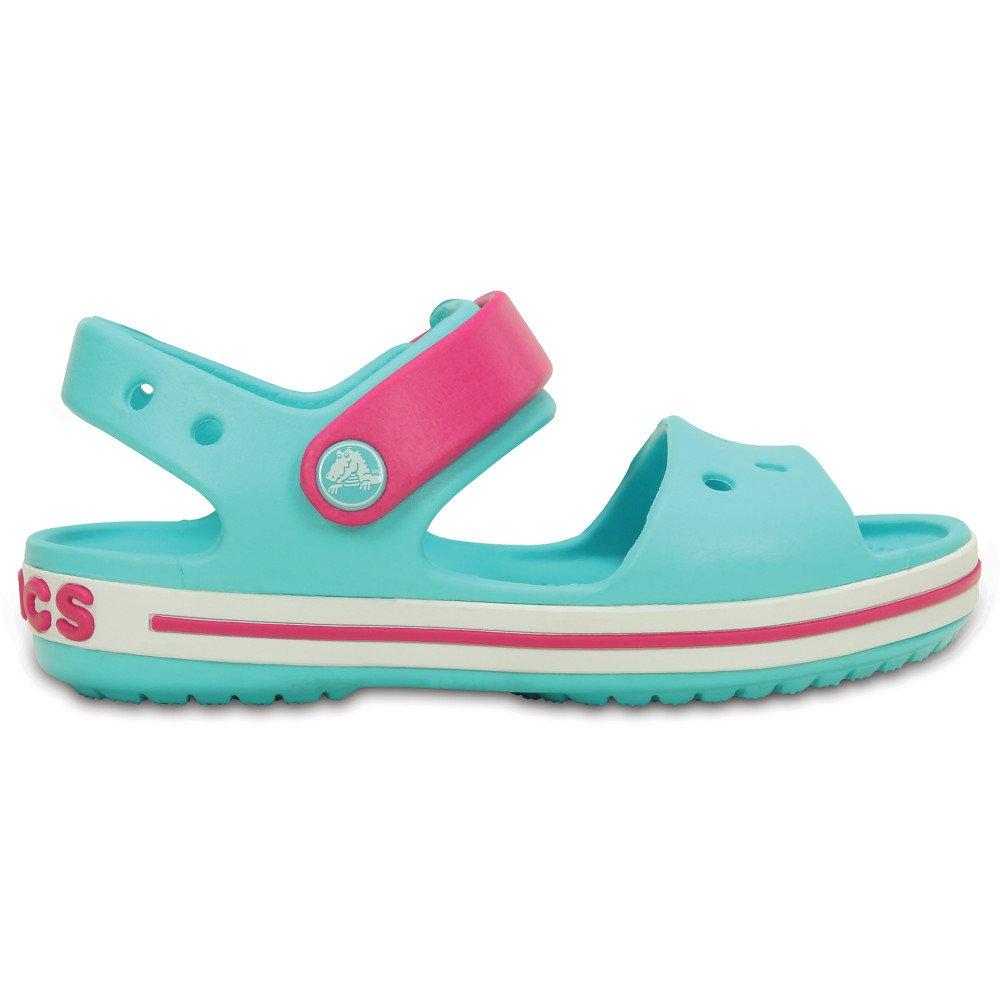 Crocs Crocband Sandal Kids zielono różowe