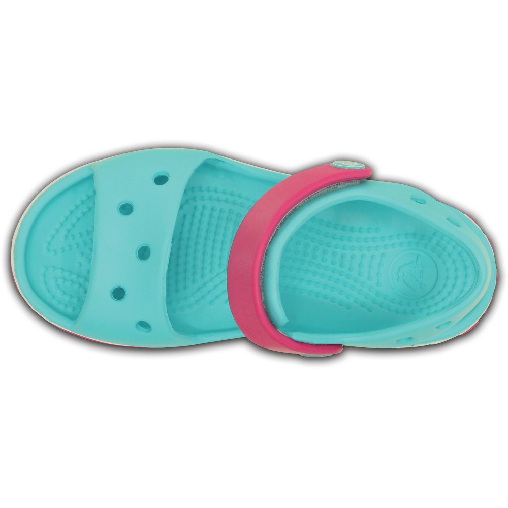 crocs crocband sandal kids zielono-różowe