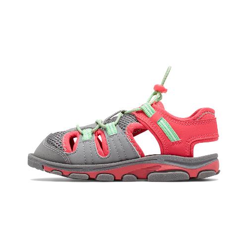 new balance kids adirondack sandal szaro-różowe
