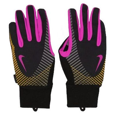 nike elite storm fit tech run gloves czarne